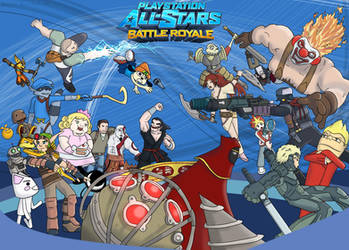 Playstation All-Stars Battle Royale by MoskiDraws