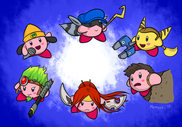 All-Kirby Battle Royale by MoskiDraws