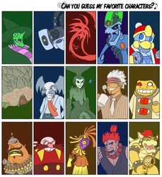 Antagonist-themed Fav Chars by MoskiDraws