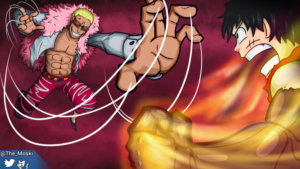 Luffy vs Doflamingo by Memoski