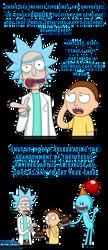 Rick and Morty Birthday card by Memoski