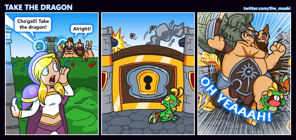 HotS comic - Take the dragon! by Memoski