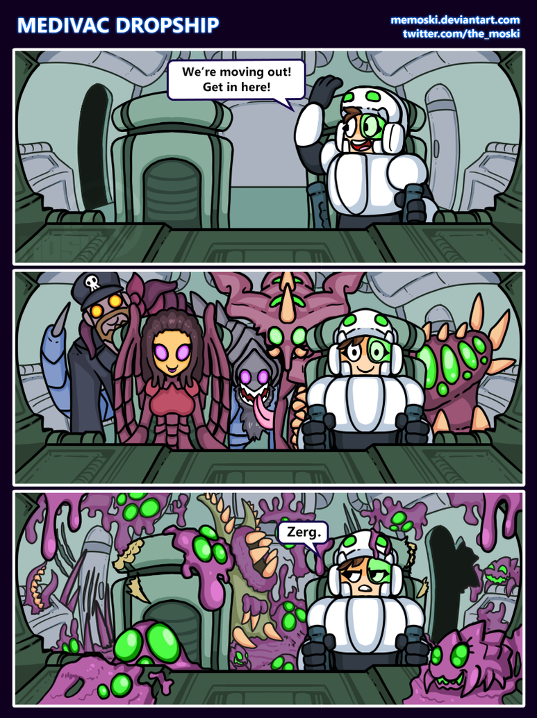 Hots comic - Medivac Dropship by Memoski