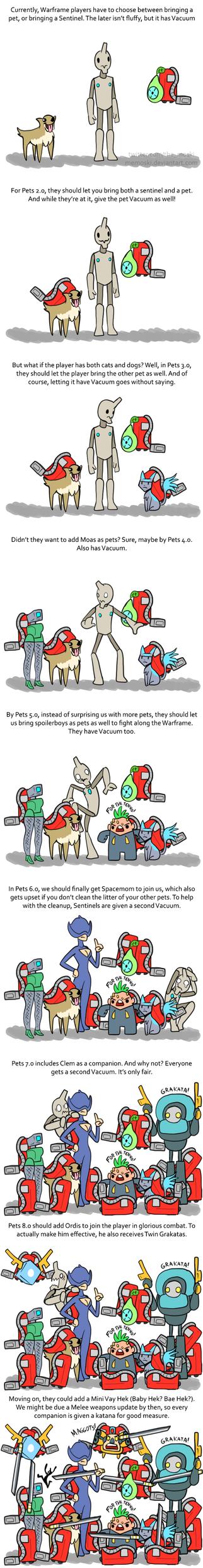 Warframe Pets by Memoski
