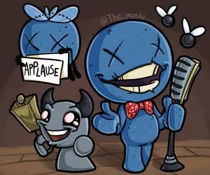 A blue baby joke by MoskiDraws