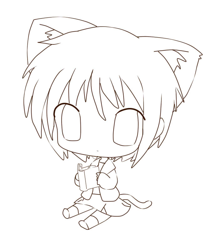 Chibi Neko Cat Girl Drawing Pictures to Pin on Pinterest  PinsDaddy