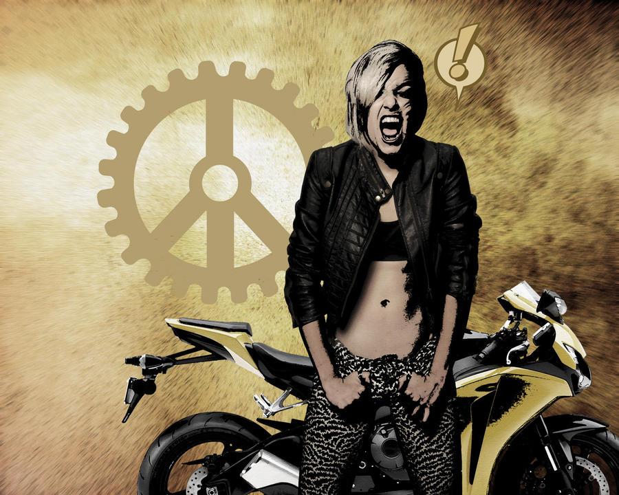 Desktop: Banshee Biker Babe Redux by pypeworks