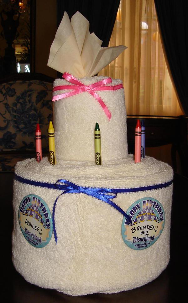 Towel Art Birthday Cake by JarodtheStampede on DeviantArt