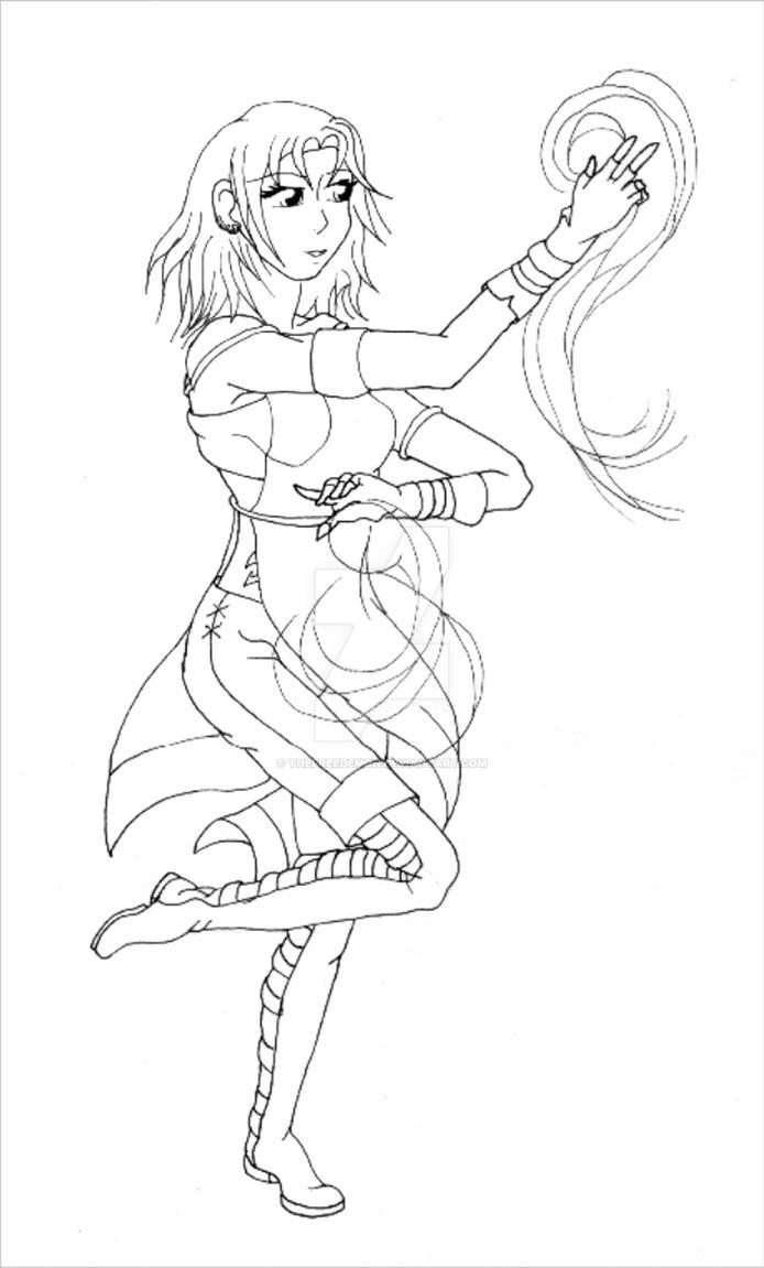 Q Line Art : Fairytail oc nadina line art by thefreedemon on deviantart