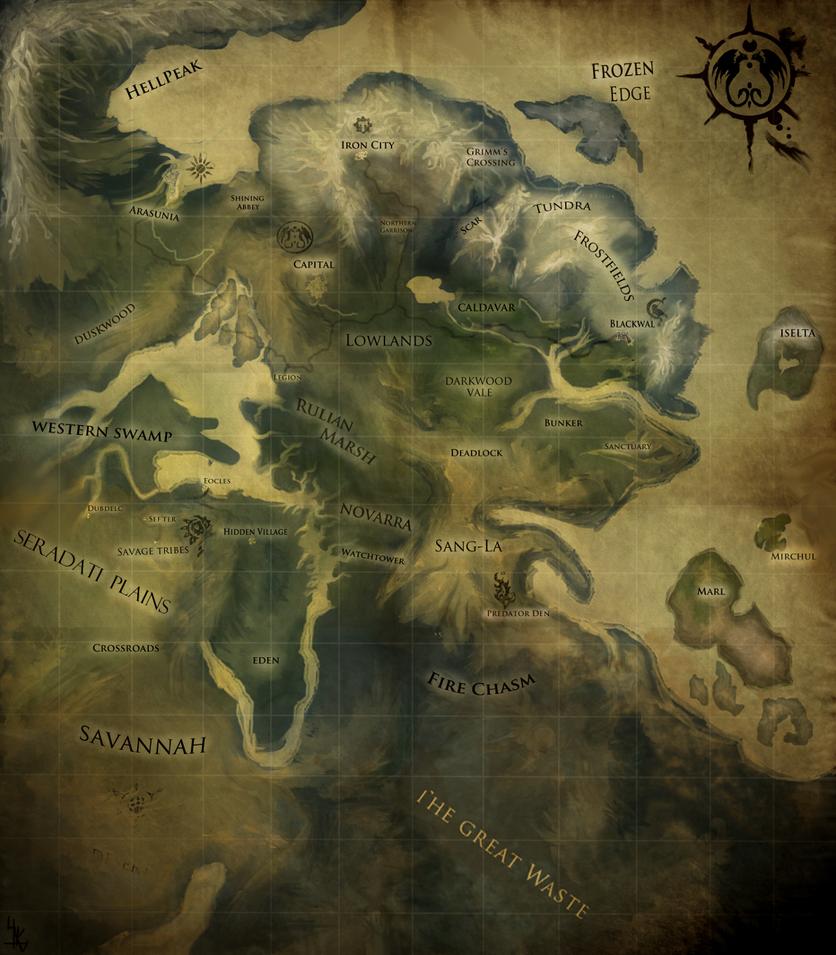 Fantasy world map by Lukotka on DeviantArt