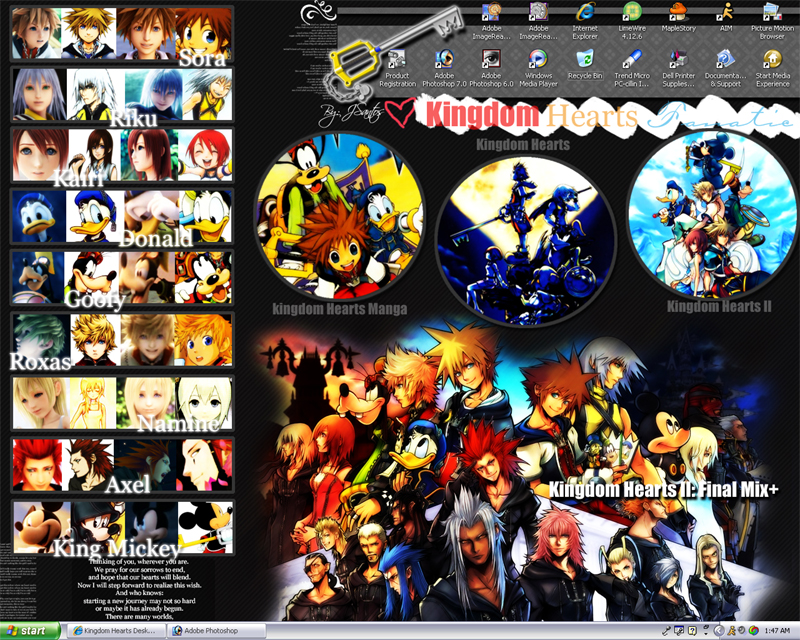 Kingdom Hearts Desktop by AsianNation