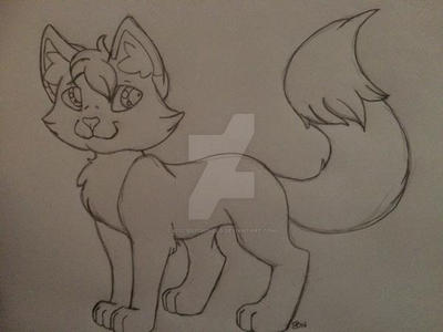 Kittie Kitsuneko Sketch by KittieKitsuneko