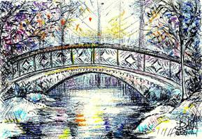 The Bridge in Winter by Keltu