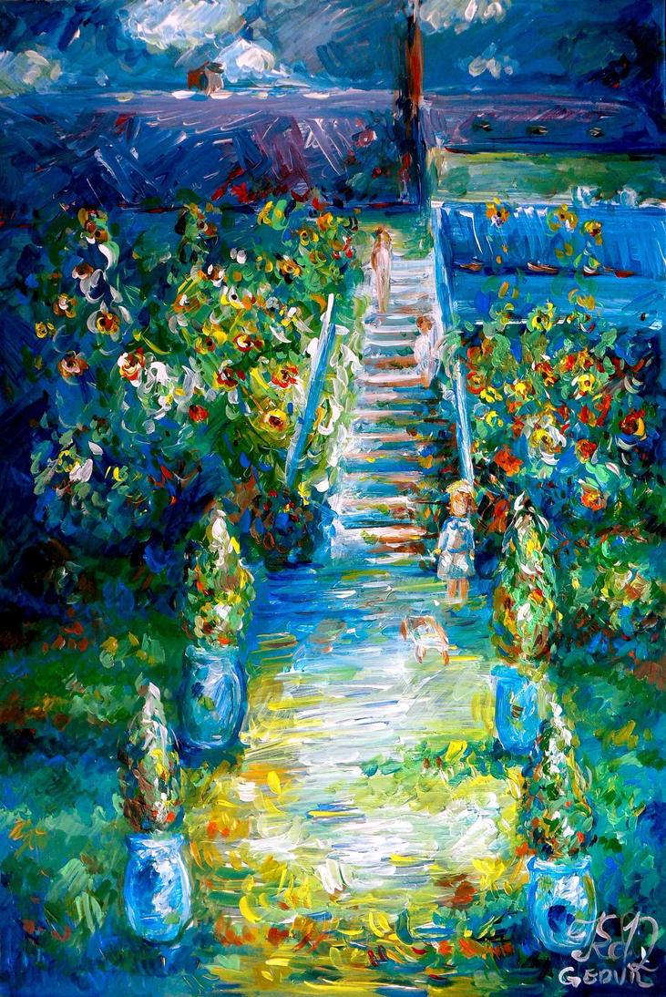 Claude monet the artist 39 s garden at vetheuil by keltu on for Monet paintings images