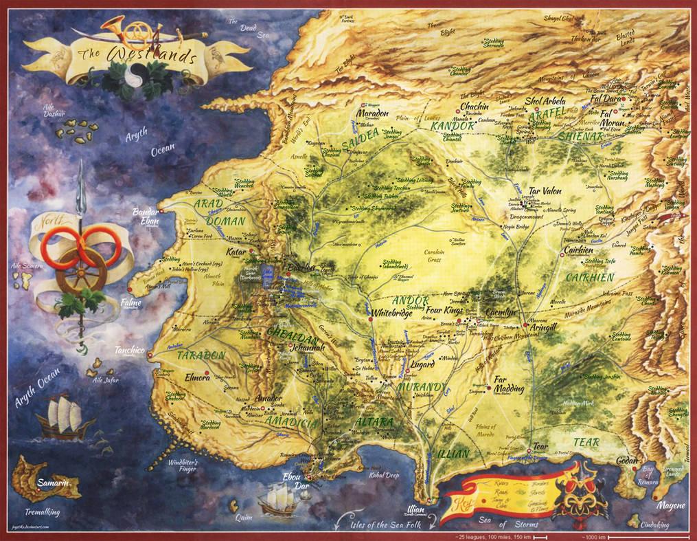 Wheel Of Time Westland Map By Joystikx On Deviantart