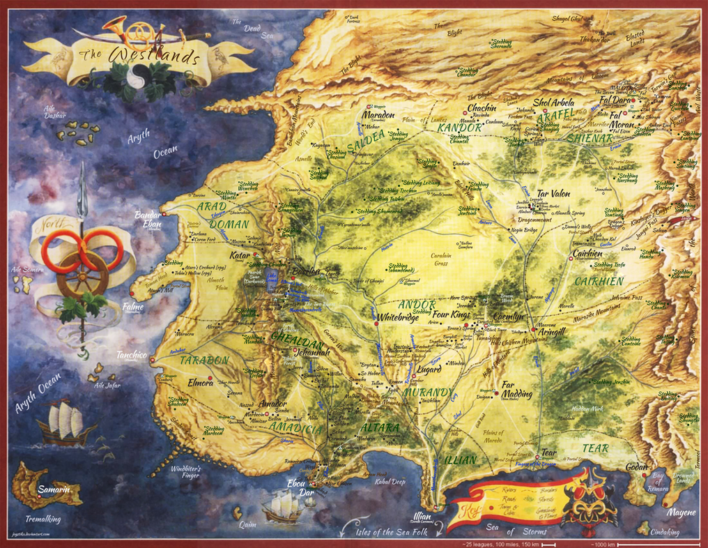 Wheel Of Time Westland Map By Joystikx On Deviantart