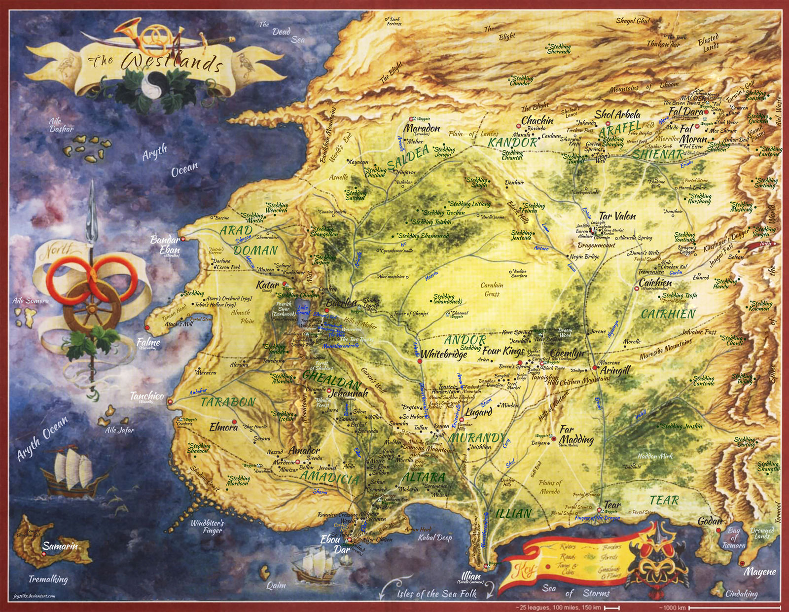 Wheel Of Time World Map Wheel Of Time   Westland map by joystikX on DeviantArt