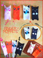 Finger puppets .CATS. by SuperCat0000
