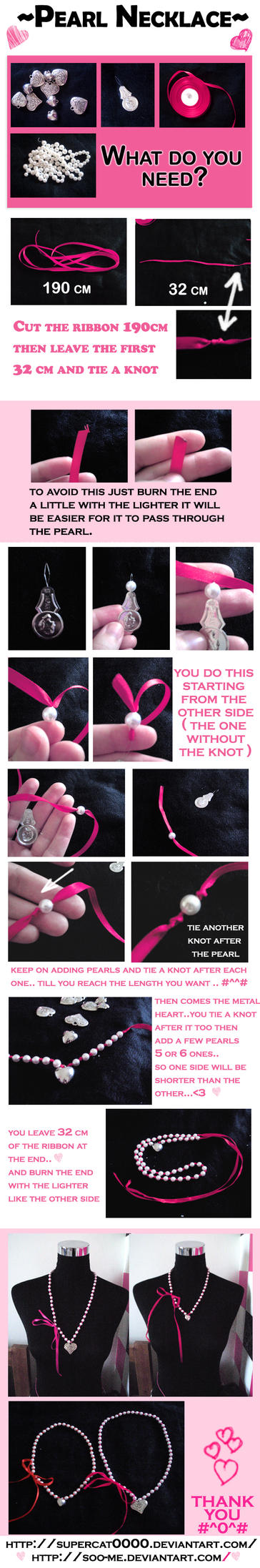 Pearl Necklace Tutorial by SuperCat0000