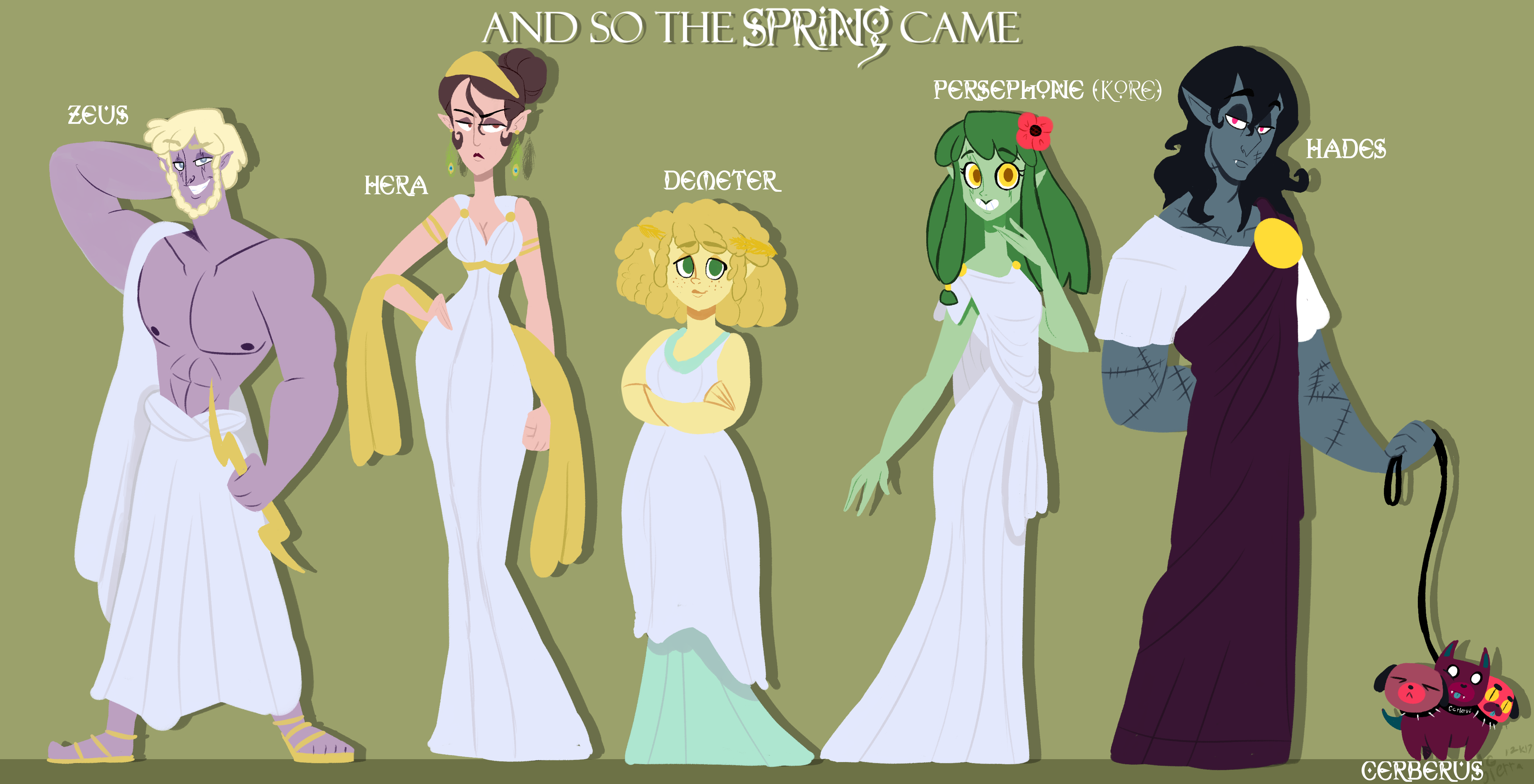 hades and persephone comic main cast by sierrag on deviantart