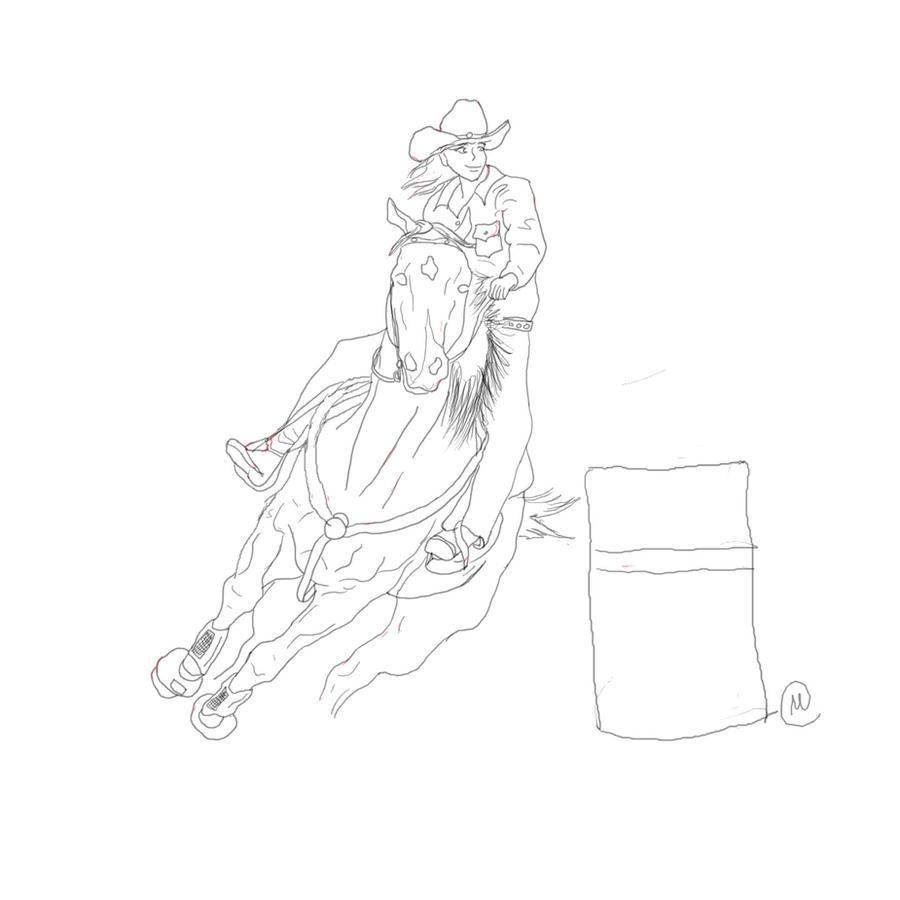 D Line Drawings Locations : Barrel racer lineart by drpepperqueen on deviantart