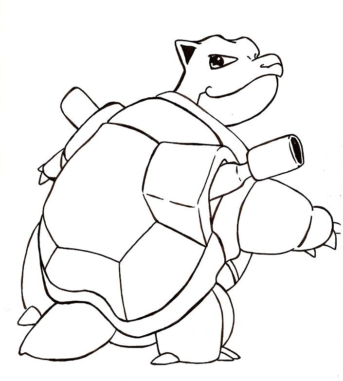 pokemon coloring pages of blastoise - photo#26