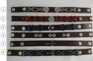 Leather Bracelets for sale by DecorumDreams