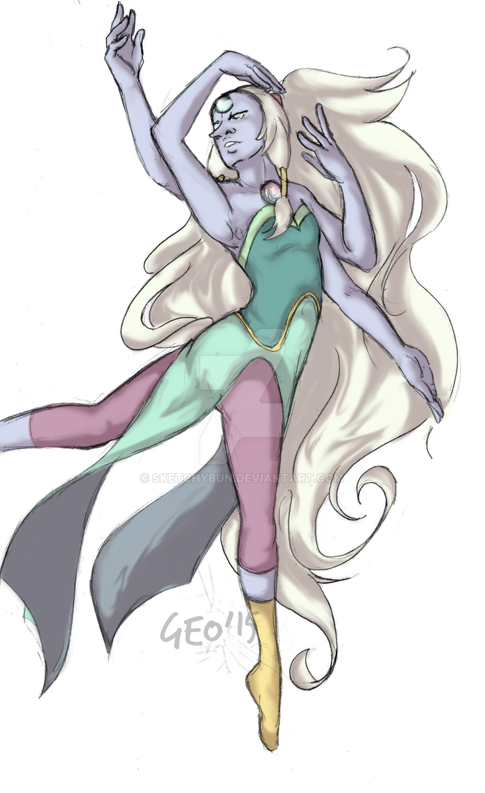 look at that god awful shading! I've been wanting to do Steven Universe art for a while but nothing ever worked out. But when suddenly practicing poses Opal was born! Steven Universe© Re...