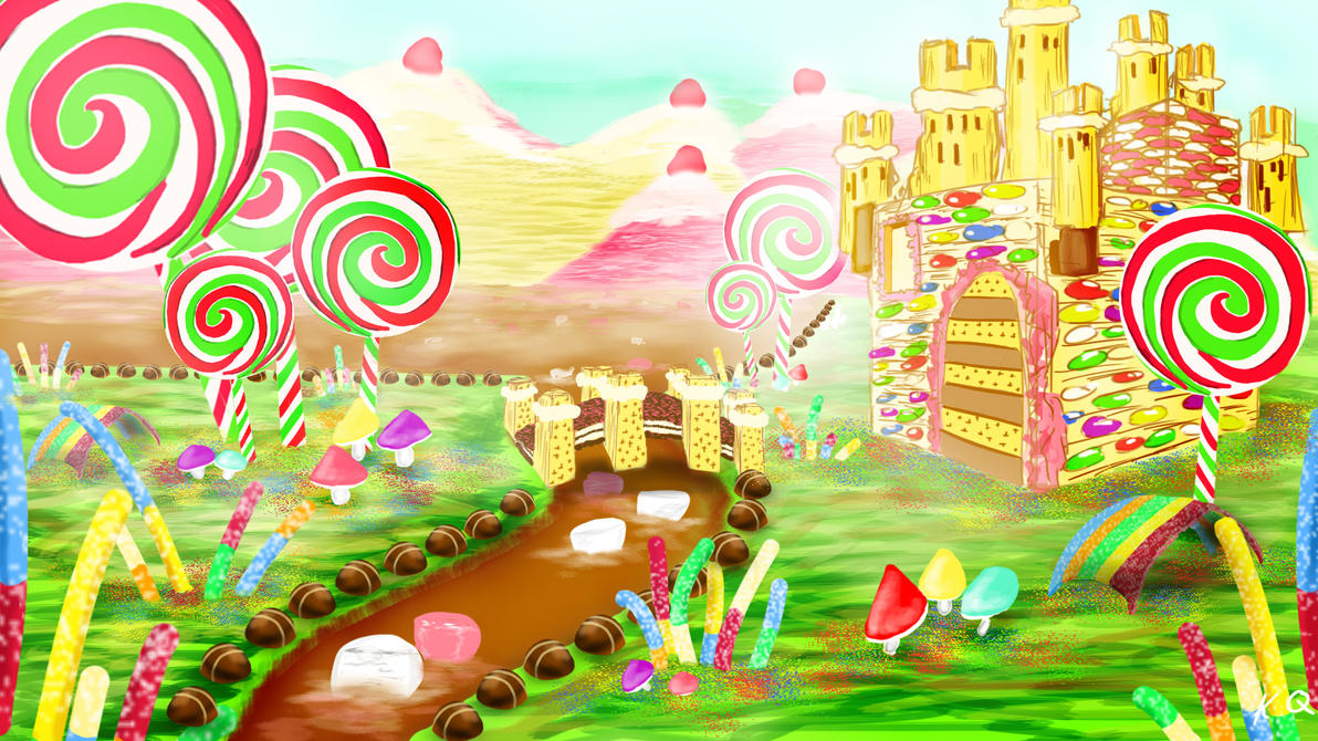 Digital painting 3 candyland by kq4rt on deviantart for Candyland wall mural