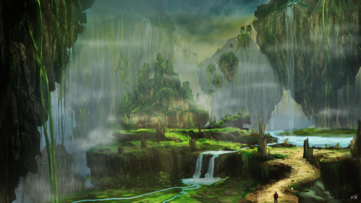 digital paintings scenery - photo #8
