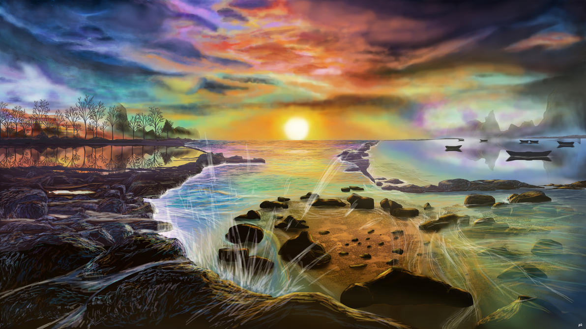 Digital painting 11: Peaceful Day by KQ4rt