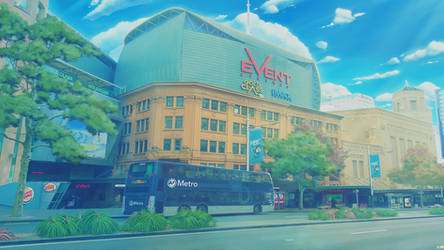 Digital painting 17: the Auckland Event Cinema by KQ4rt