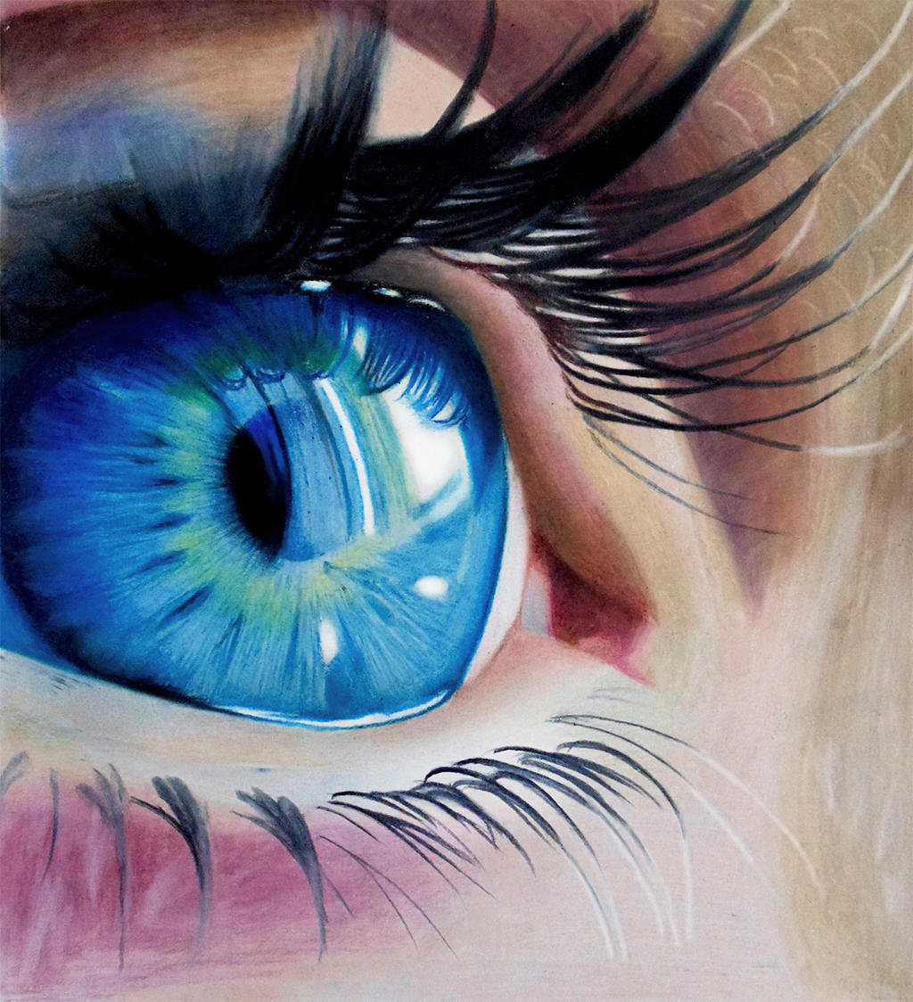 Blue Eye - Colored Pencils by f-a-d-i-l on DeviantArt