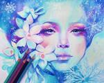 December - colored pencils by f-a-d-i-l