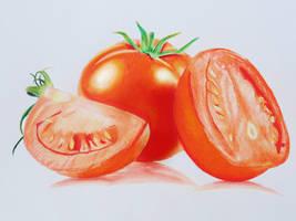 Tomato - Colored Pencils by f-a-d-i-l