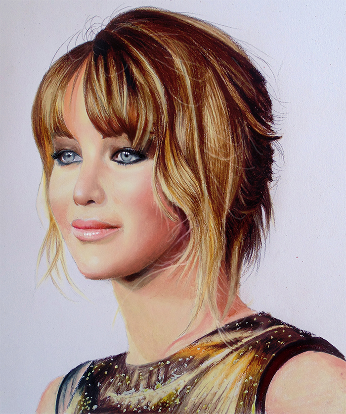 Jennifer Lawrence - Colored Pencils by f-a-d-i-l
