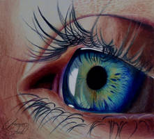 Eye - 4 -- Colored Pencils by f-a-d-i-l