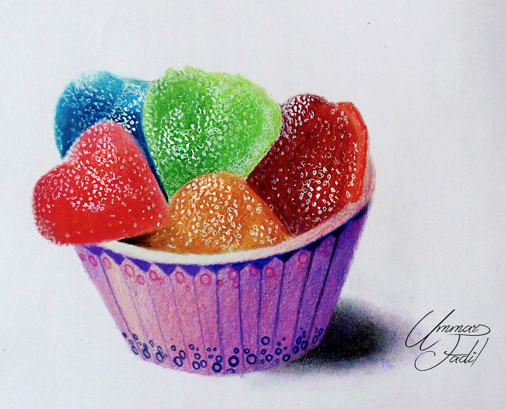Sugar Candies in a paper cup - Colored pencils by f-a-d-i-l on ...