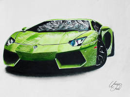 Drawing Cars 1 - Lamborghini Aventador by f-a-d-i-l