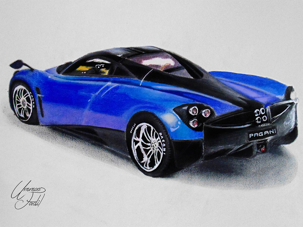 Drawing Cars 3 - Pagani Huayra by f-a-d-i-l on DeviantArt