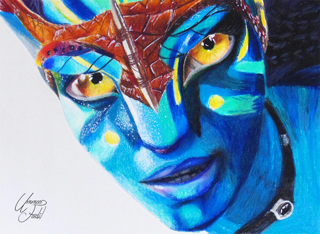 Neytiri from Avatar - Colored pencils by f-a-d-i-l