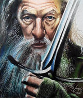 Gandalf (Ian McKellen) - LOR - colored pencils by f-a-d-i-l