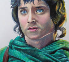 Frodo from Lord of the rings - colored pencils. by f-a-d-i-l