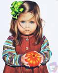 Cute Pumpkin - Prismacolor on bristol