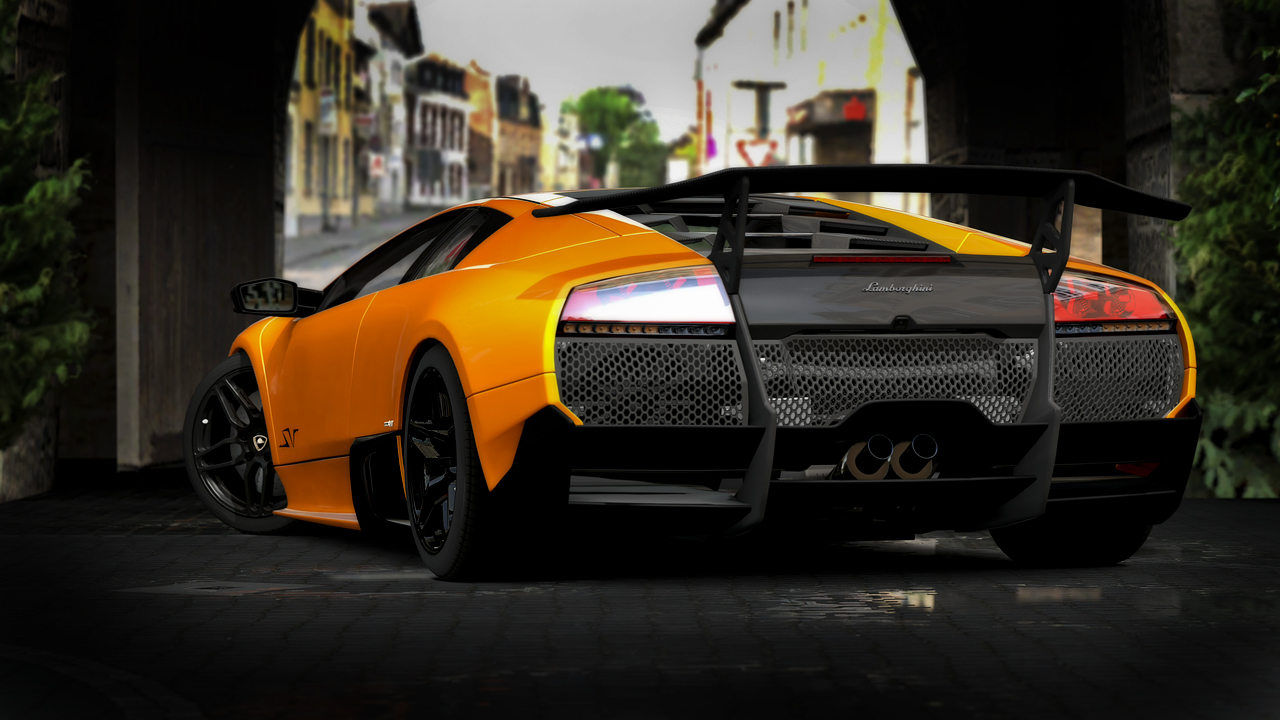 Low profiled Lamborghini GT5 by RaynePhotography