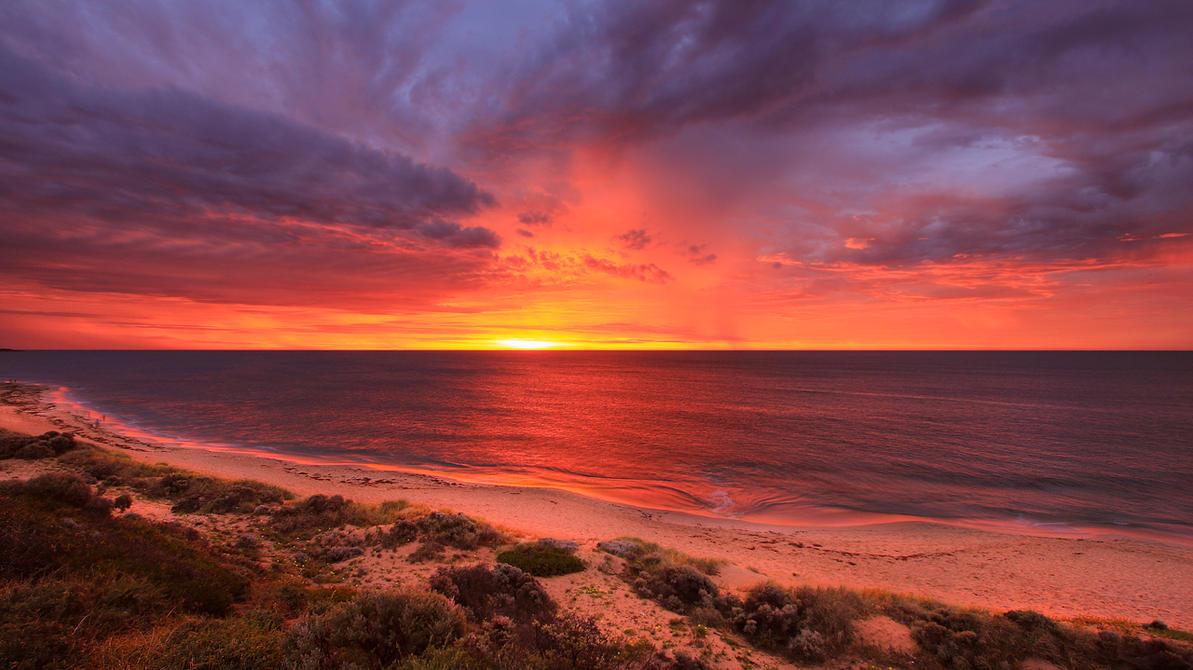 Stormy Sunset Western Australia by StachRogalski