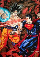 Goku vs Superman by jmcartwork