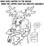 Fuzzy Moose Creamer