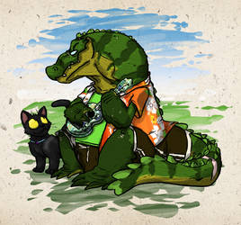 Ukulele Gator by Heros-Shadow