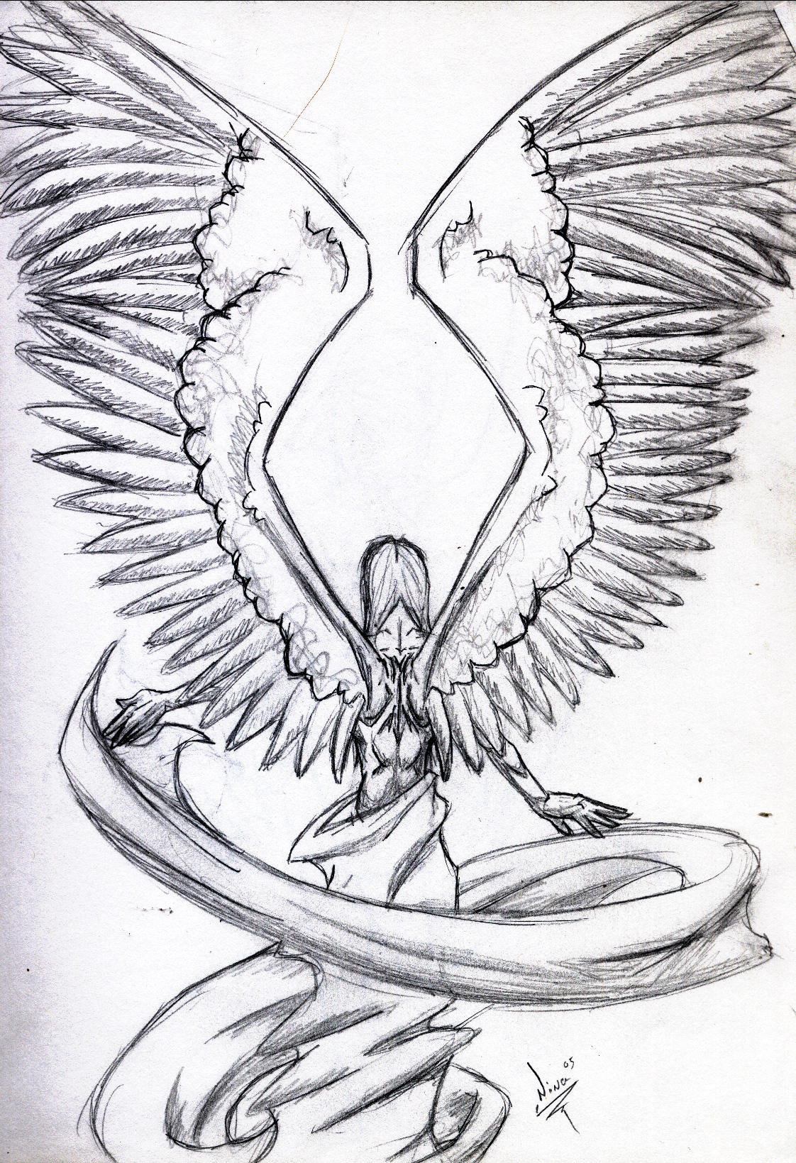Angel Wings Orig Sketch by MagikLamp on DeviantArt